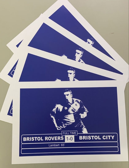 A4 Bristol Rovers Art Print 1-0