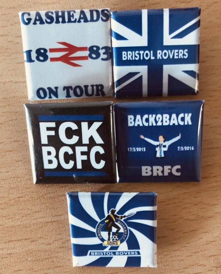 Bristol Rovers Badge Set